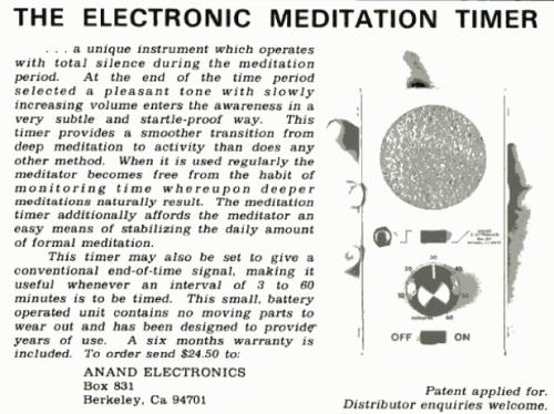 meditation timer circa 1976